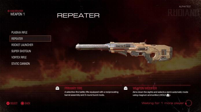 O Repeater dispara 3 vezes em sequência e é exclusiva do multiplayer do novo Doom (Foto: Reprodução/VG247)