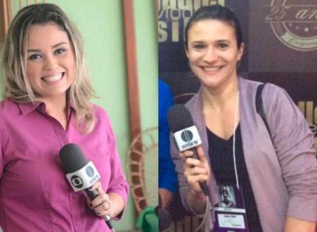 Leticia Antunes, repórter de Campos e Luciana Thomaz de Nova Friburgo. (Foto: Arquivo Pessoal)