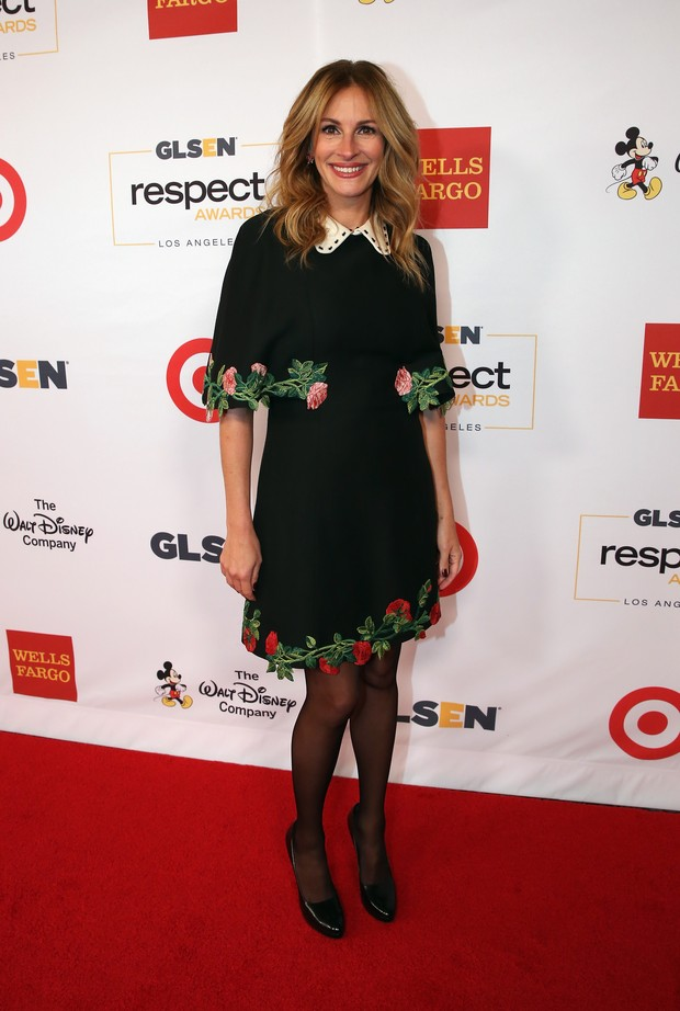 Julia Roberts em premiação em Los Angeles, nos Estados Unidos (Foto: Jonathan Leibson/ Getty Images/ AFP)