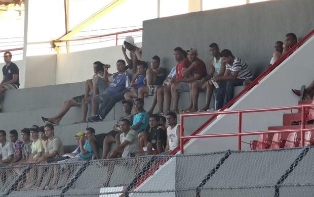 torcida do Cruzeiro no Nelsão (Foto: Denison Roma / Globoesporte.com)