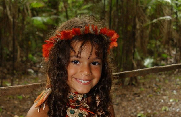 """Em 2004, aos 8 anos, a atriz viveu a índia Jajale no """"Sítio do picapau amarelo""""/ (Foto: Renato Rocha Miranda/TV Globo)"""