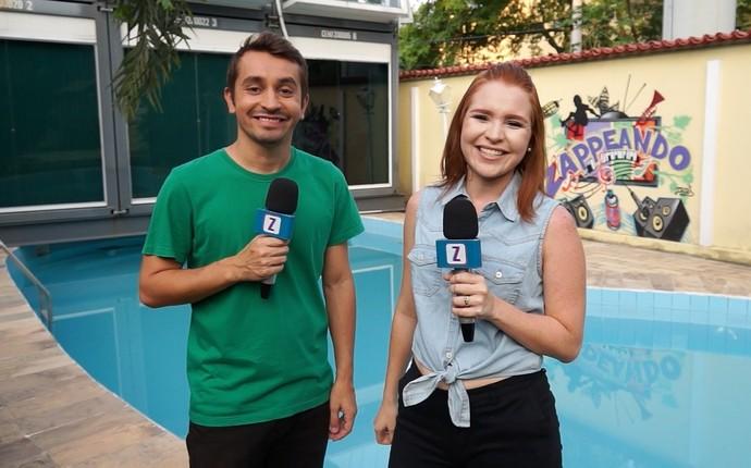 Moacyr Massulo e Jéssica Monteiro apresentam 'Zapp' de sábado (10) (Foto: Rede Amazônica)