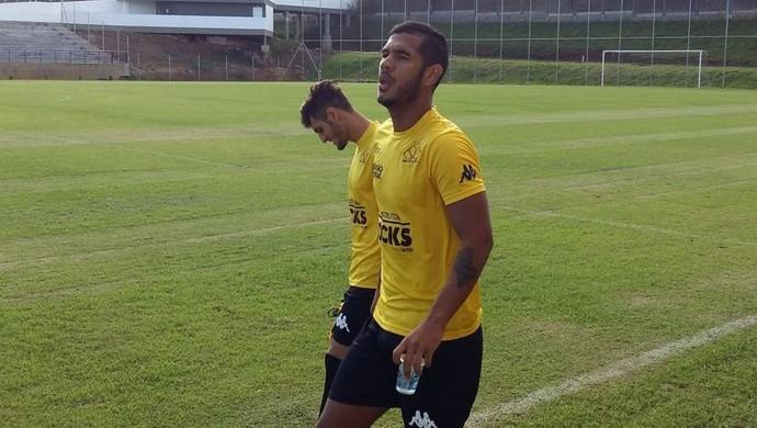 Gabriel Leite e Hélio Paraíba Criciúma (Foto: J. Éder/Rádio Eldorado)