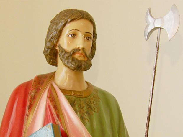 Fiéis comemoram Dia de São Judas Tadeu no Sul de Minas (Foto: Reprodução EPTV)