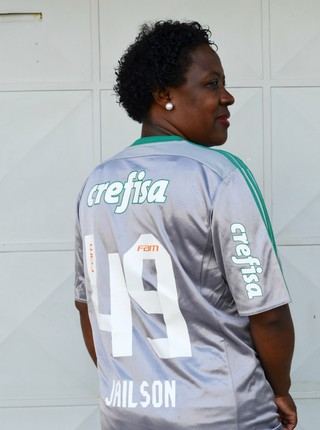 Maria Antonia mãe goleiro Jailson (Foto: Danilo Sardinha/GloboEsporte.com)