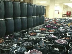 Itens a serem enviados nos próximos meses ao Malauí (Foto: Divulgação/Transformation Textiles)
