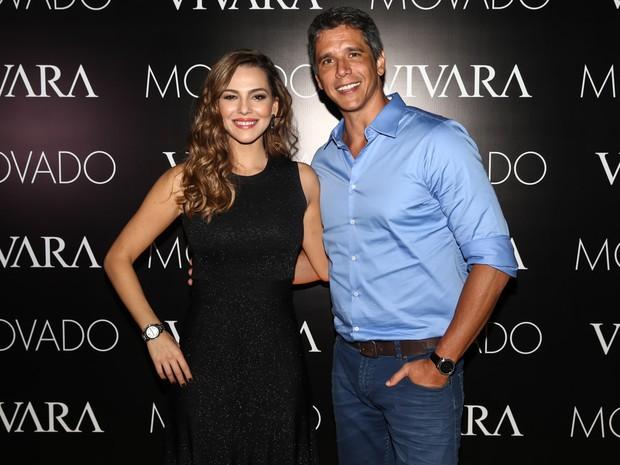 Tainá Müller e Márcio Garcia em evento em São Paulo (Foto: Manuela Scarpa/ Foto Rio News)