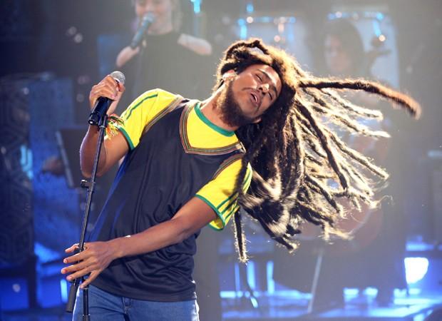 4ª apresentação: Ícaro como Bob Marley (Foto: Divulgação/TV Globo)