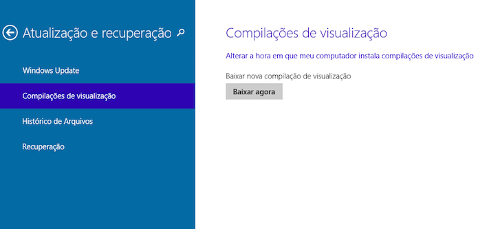 Baixando nova versão do Windows 10 Technical Preview (Foto: Reprodução/Helito Bijora)