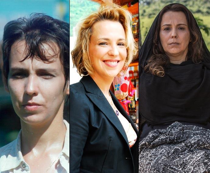 A atriz nas peles de Jacira, Ilana e Emília, respectivamente (Foto: Globo / CEDOC / TV Globo / João Miguel Júnior / Fábio Rocha / Gshow)