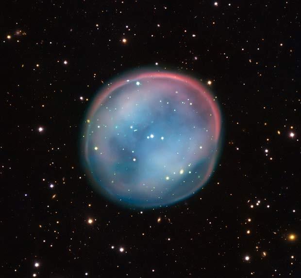 A nebulosa Coruja do Sul foi registrada pelo conjunto de telescópios do Observatório Europeu do Sul (ESO) (EMBARGADO ATÉ 5/8) (Foto: ESO)
