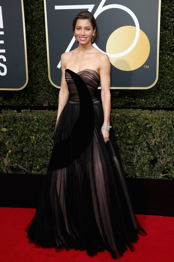 BEVERLY HILLS, CA - JANUARY 07:  Jessica Biel attends The 75th Annual Golden Globe Awards at The Beverly Hilton Hotel on January 7, 2018 in Beverly Hills, California.  (Photo by Frederick M. Brown/Getty Images) (Foto: Getty Images)