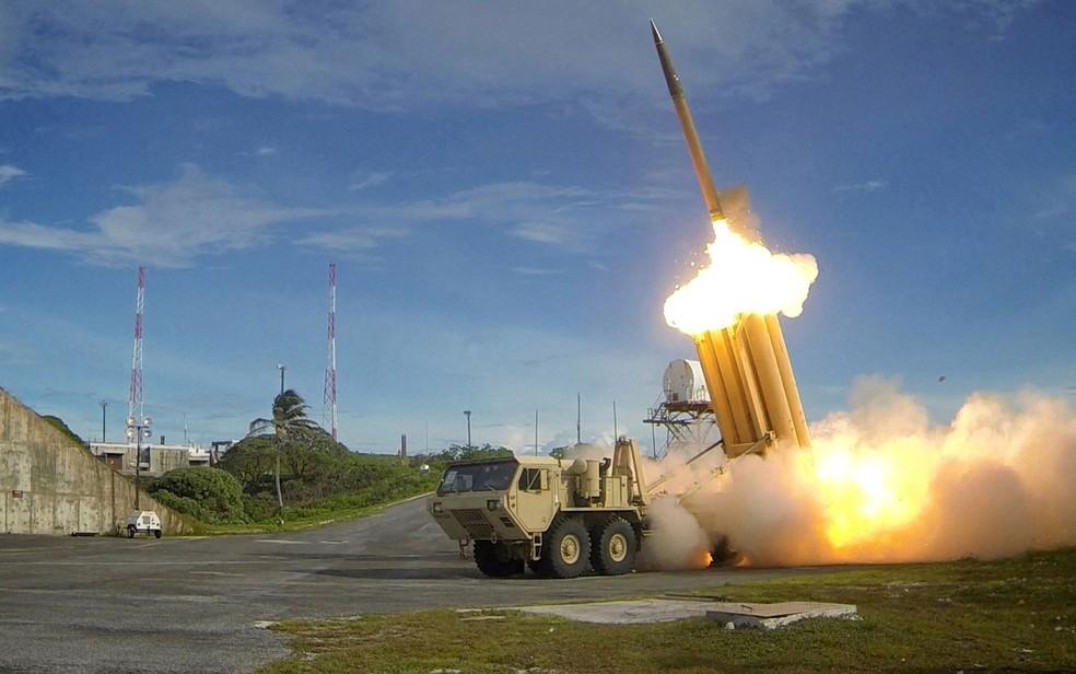 EUA instalam escudo antimísseis THAAD na Coreia do Sul (Foto: Missile Defense Agency/Handout via Reuters)