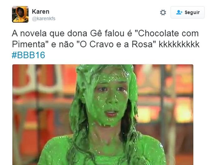 Twitter BBB Chocolate com Pimenta (Foto: Reprodução/Internet)