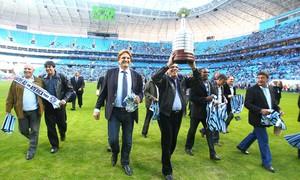 Grêmio abre Arena a seus heróis: 'Página mais rica da história' (Lucas Uebel/Grêmio FBPA)