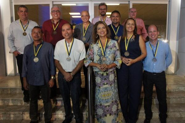 Onze colaboradores estão na TV Cabo Branco desde a fundação (Foto: Daniel Sousa/TV Cabo Branco)