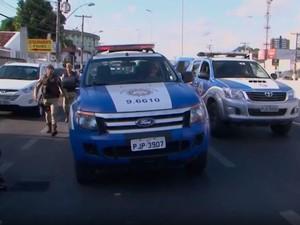 Perseguição ocorreu no centro da cidade de Feira de Santana (Foto: Reprodução/TV Subaé)