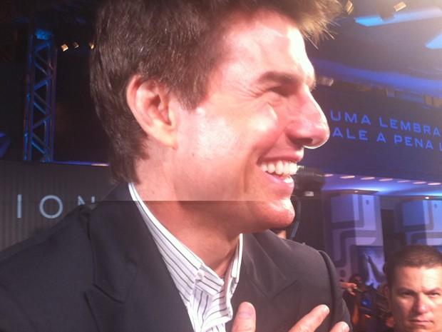 Tom Cruise chegou pouco depois das 20h ao Odeon (Foto: Gabriel Barreira / G1)