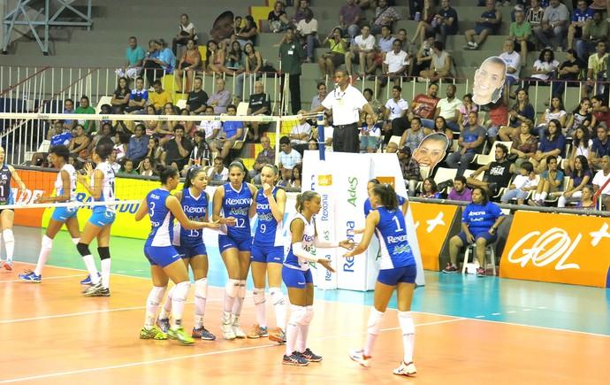 Rio de Janeiro X Araraquara - Super liga feminina de Vôlei (Foto: Matheus Tiburcio)