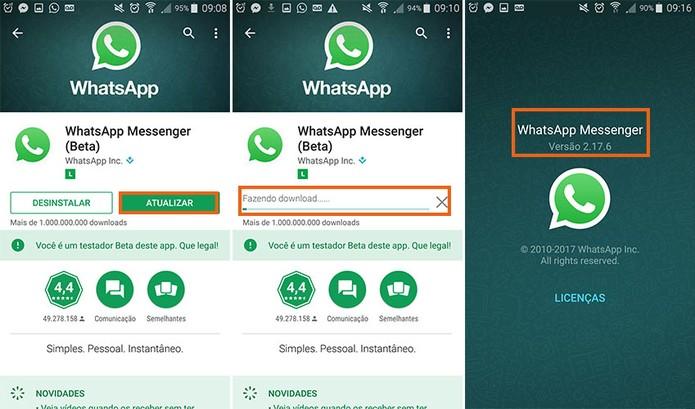 Baixe a versão atualizada do WhatsApp Beta no Android (Foto: Reprodução/Barbara Mannara)