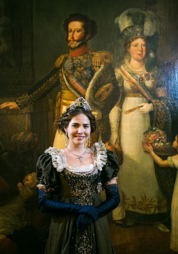 Letícia Colin caracterizada como Leopoldina para a novela Novo Mundo (Foto: Globo/Raquel Cunha)
