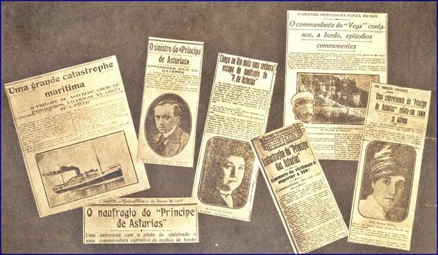 Jornais da época divulgaram o maior naufrágio brasileiro (Foto: Reprodução/Blog Jeannis Platon)