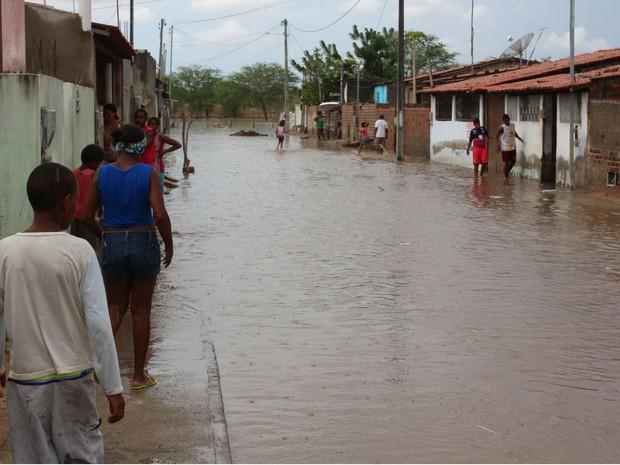 Segundo prefeiuta, 60 famílias precisaram deixar as casas (Foto: Divulgação/Prefeitura de Riachão do Jacuípe)