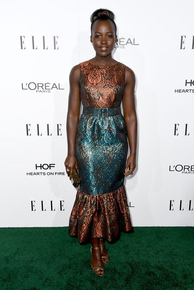 Lupita Nyong'o em premiação em Los Angeles, nos Estados Unidos (Foto: Frazer Harrison/ Getty Images/ AFP)