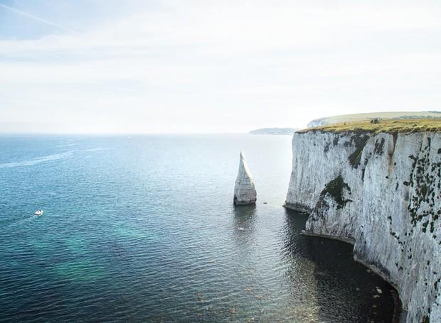 Old Harry Rocks, Inglaterra (Foto: Paulo Del Valle/Divulgação)