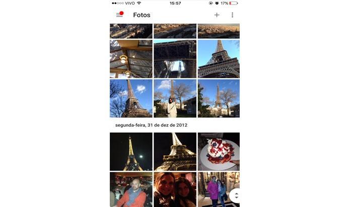 clique na foto que você deseja editar (Foto: Gabriella Fiszman/ TechTudo)