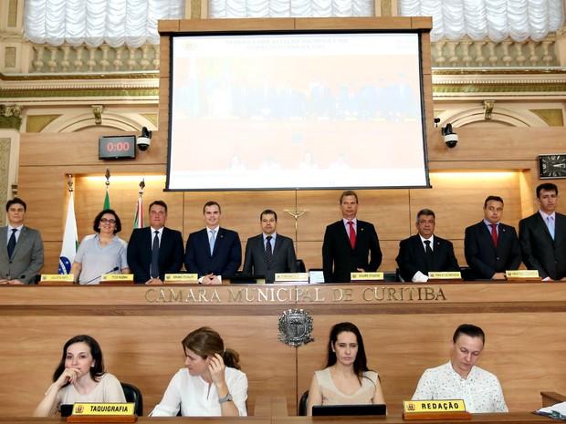 Mesa Executiva da Câmara de Curitiba foi definida na segunda-feira (3) (Foto: Divulgação/ Câmara de Curitiba)