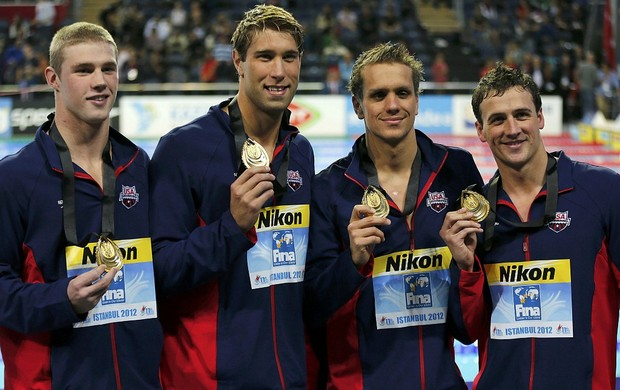 Matthew Grevers Ryan Lochte Kevin Cordes Thomas Shields EUA natação medley (Foto: Reuters)