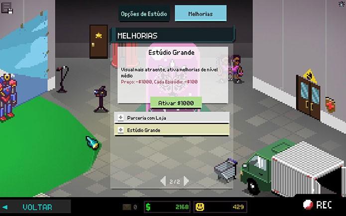 O game é também o simulador de um estúdio de gravação de séries de TV neste estilo (Foto: Reprodução/Felipe Vinha)