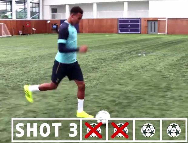 """BLOG: Dele Alli tenta recriar gol de """"sambadinha"""" de Ronaldinho; veja como foi"""