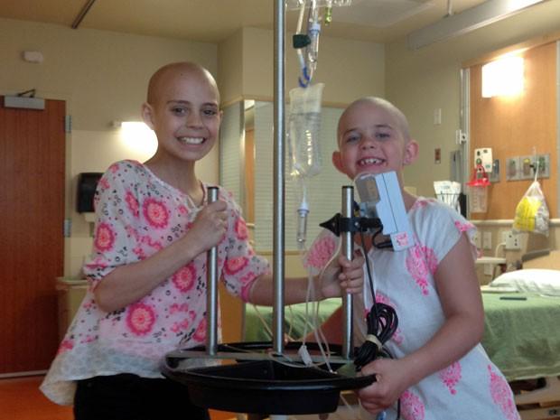 Delaney recebeu a visita de Kamryn em hospital do Colorado (Foto: AP/Arquivo pessoal)