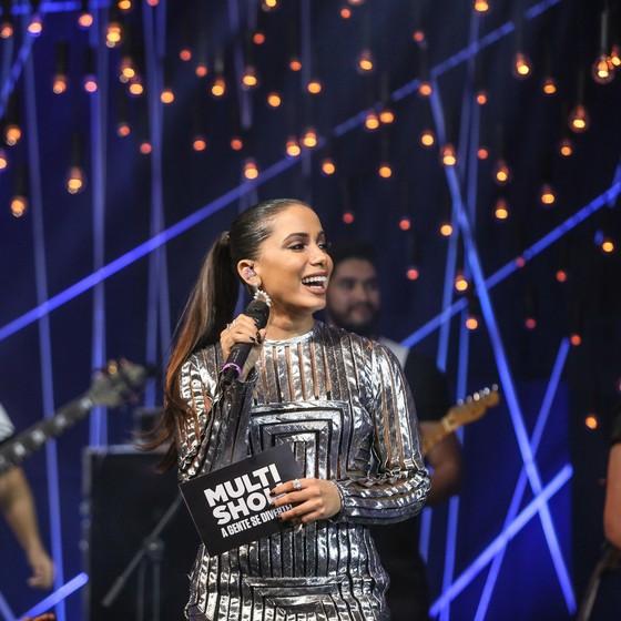 Anitta no palco do Músia boa ao vivo, que ela apresenta até outubro no Multishow (Foto: Divulgação)