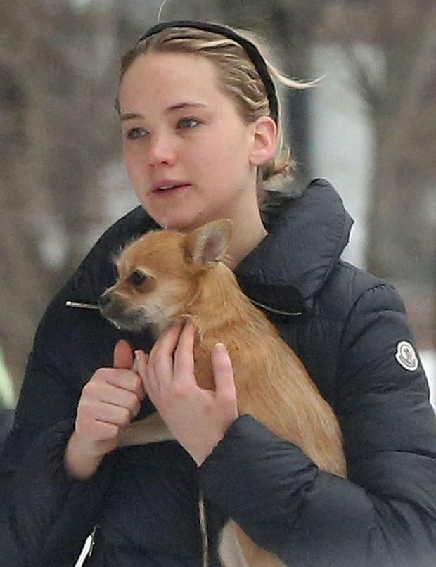 Jennifer Lawrence sem maquiagem (Foto: Reprodução)
