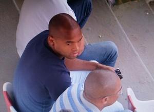 Anderson Salles acompanhou jogo do Ituano em Itu (Foto: Anderson Cerejo/ TV TEM)