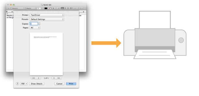 Usando impressora localizada automaticamente pelo Bonjour (Foto: Divulgação/Apple)