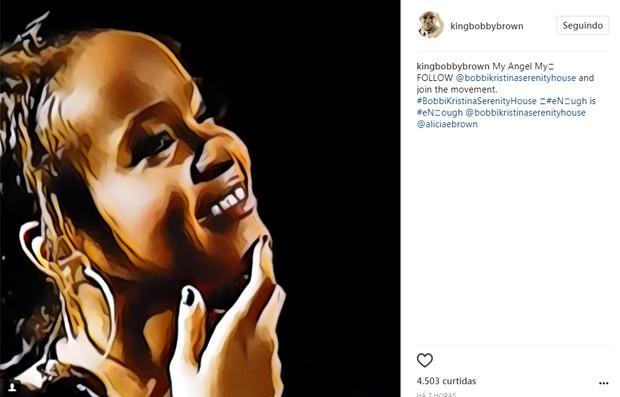 Bobby Brown homenageou a filha Bobbi Kristina, morta em 2015 (Foto: Reprodução/Instagram)