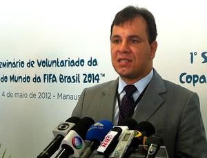 Rodrigo Hermida, gerente de voluntariado do Comitê Organizador da Copa de 2014 (Foto: Ana Graziela Maia/GLOBOESPORTE.COM)
