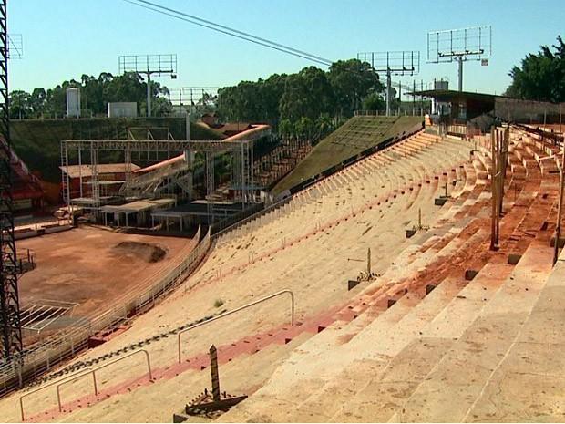 Parque do Peão de Barretos recebe preparativos para principal rodeio do país (Foto: Maurício Glauco/EPTV)