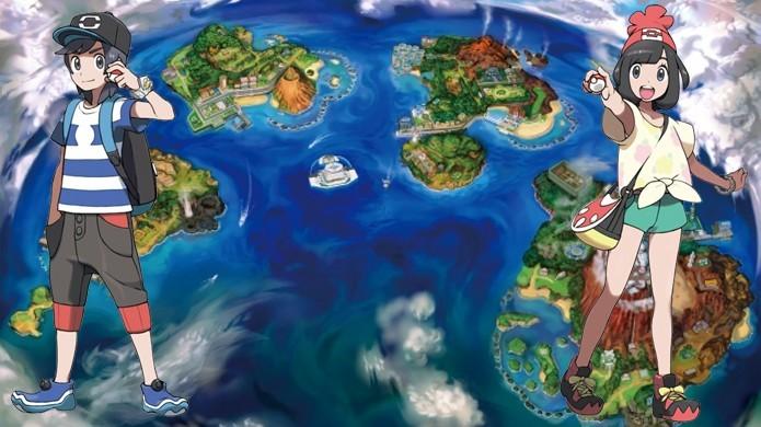 No papel de um novo herói e heroína jogadores explorarão a região de Alola em Pokémon Sun & Moon (Foto: Reprodução/Gematsu)