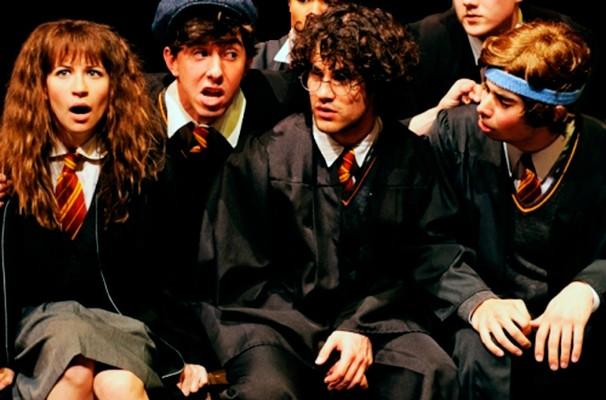 O trio principal da história: Hermione, Harry (Criss) e Rony (Foto: Reprodução)