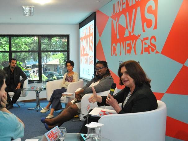 Regina Novaes refletiu sobre as expressões culturais e as formas de mobilização juvenil (Foto: Globo/Renato Velasco)