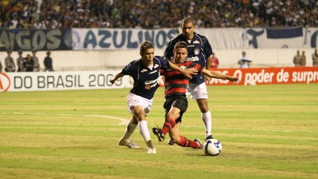 Remo enfrentou o Flamengo no Mangueirão e perdeu por 2 a 0 (Foto: Marcelo Seabra/O Liberal)