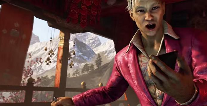 Far Cry 4 será lançado inteiramente em português, com o dublador Sergio Moreno interpretando Pagan Min. (Foto: Reprodução/YouTube)
