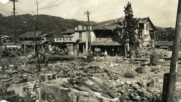 Destruição da cidade de Hiroshima, no Japão, pela bomba atômica durante a 2ª Guerra (Foto: Arquivo Nacional dos EUA)
