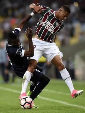Richarlison Fluminense x Universidad de Quito (Foto: André Durão/GloboEsporte.com)