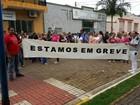 Servidores de Itararé entram em greve (Romeu Neto/ TV TEM)
